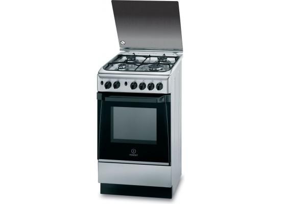 Indesit 50x50 cm 4-Burner Free Standing Gas Cooker (KN1G21(X)/EX)