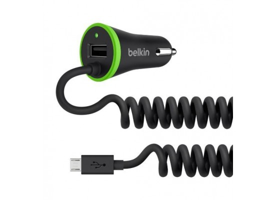 Belkin 3.4a Car Charger With Micro USB - Black F8M890bt04