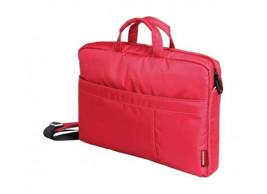 Promate Charlette Modern Shoulder Bag for 15.6-inch Laptop - Red