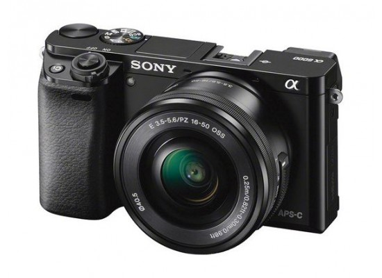 Sony Alpha a6000 Mirrorless Digital Camera with 16-50mm Lens - Black