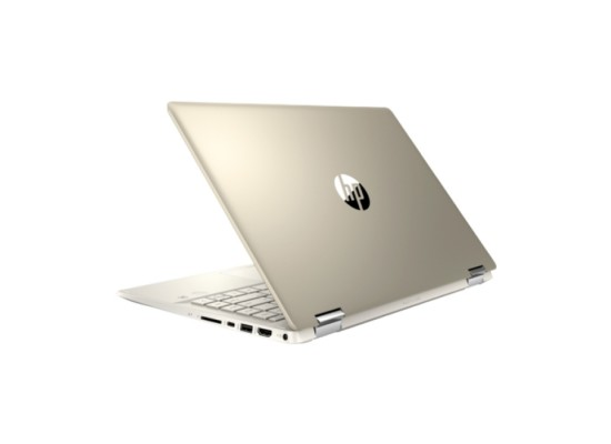 HP Pavilion x360 Intel Core i5, nVidia GeForce MX130 2GB, Ram 8GB, 1TB HDD + 256GB SSD, 14-inch FHD Touch Diplay Convertible Laptop - Gold (14-DH1005NE)
