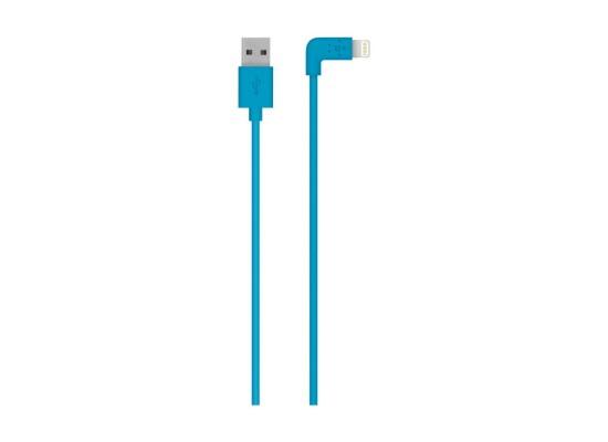 Belkin Mixit 90-Degree 1.2m USB to Lightning Cable - Blue (F8J147BT04)