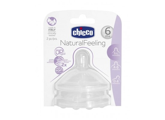 Chicco 2Pc Step Up Silicone Teat (143N)