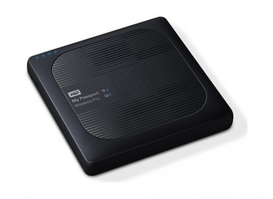Western Digital My Passport Wireless Pro 2TB USB 3.0 External Hard Drive (WDBP2P0020BBK) - Black
