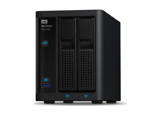 Western Digital My Cloud PR2100 8TB 2-Bay NAS And Cloud Storage (WDBBCL0080NBK)