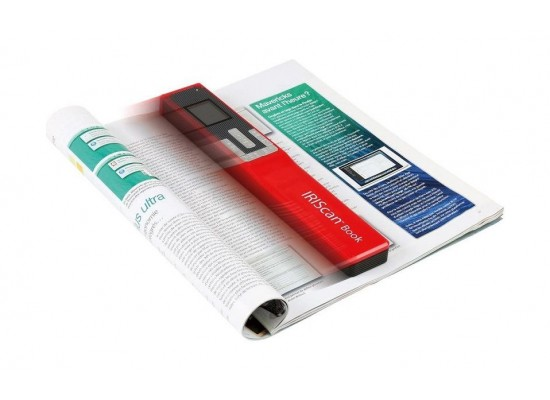 Iris Scan Book 5 1.5-inch LCD Display Portable Scanner (458740)- Red