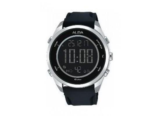 Alba Gents Sport Digital Rubber Watch (A5A009X1) - Black