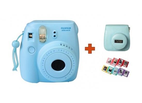 Fuji Instax Mini8 Camera + Case + Album - Blue