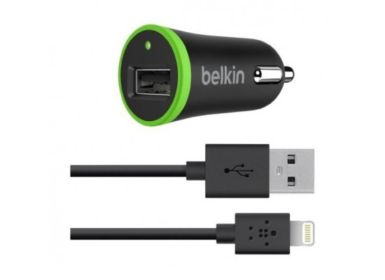 Belkin 12 Watts Car Charger with USB Lightniing Cable F8J121bt04