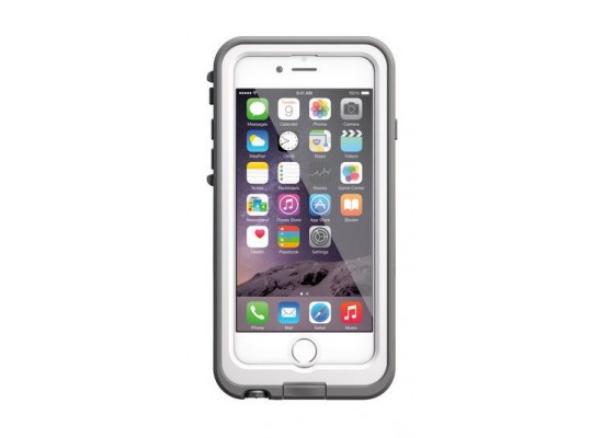 sports shoes 1b333 2e1a4 Lifeproof Fre Power Case for iPhone 6 Plus & 6S Plus - White/Silver ...