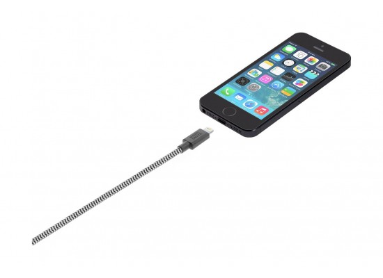Native Union Belt Zebra Lightning to USB Cable 1m - White/Black