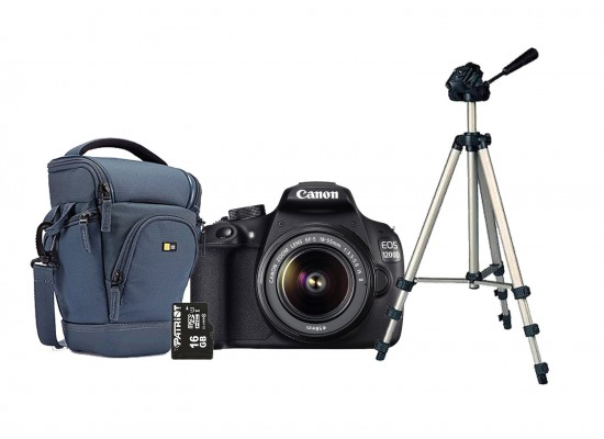 Canon EOS-1200D 18-55MM Zoom Lens + 16 GB Micro SD Card + SLR Zoom Holster  + Tripod