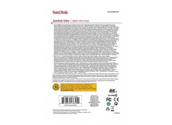 SanDisk 16GB Ultra UHS-I SDHC Class 10 Memory Card - SDSDUNC-016G