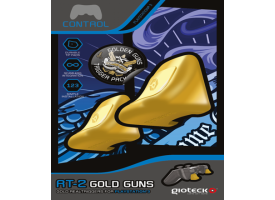 Gioteck RT-2 Gold Guns Triggers-PS3