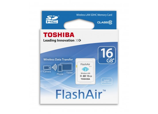 Toshiba Flash Air WiFi SDHC 16GB Class 10 (SD-F16) Memory Card