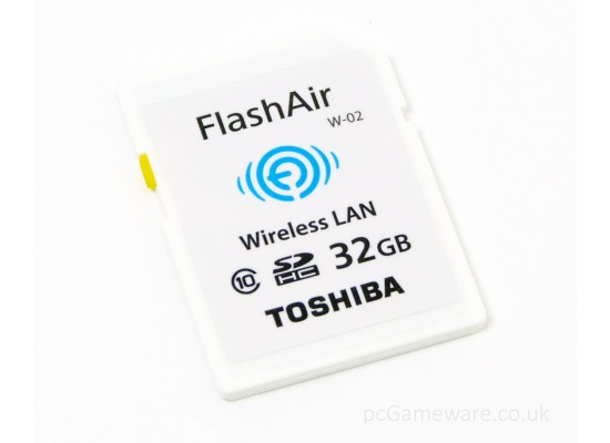 Toshiba Flash Air WiFi SDHC 32GB Class 10 (SD-F32) Memory Card