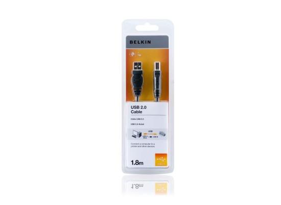 Belkin USB 2.0 Premium Printer 1.8m Cable (F3U154CP1.8M)