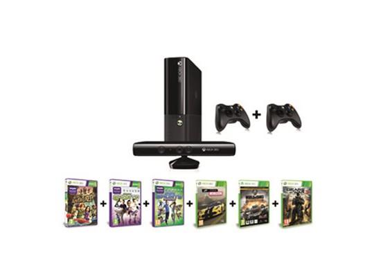 Microsoft Xbox 360 Kinect 500GB Console + 6 Games + Extra Wireless