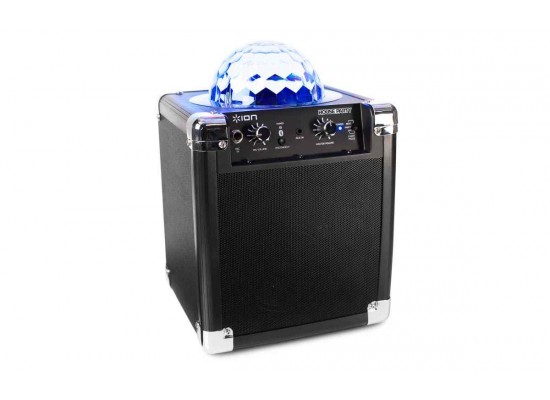 Ion House Party Portable Bluetooth Speaker with Party Lights - Black