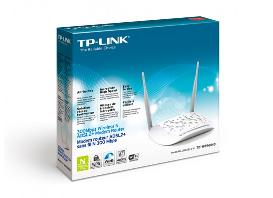 TP-Link TD-W8961ND Wireless N ADSL2+ Modem Router - 300 Mbps | Xcite
