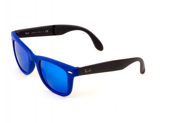 9ed787df78 Ray-Ban 4105 Wayfarer Sunglasses For Men   Women - Blue Frames   Blue Lenses