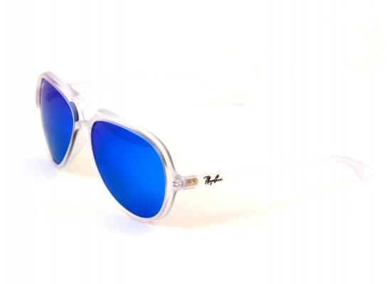 Ray-Ban 4125 Aviator Sunglasses For Men & Women - White Frames ...