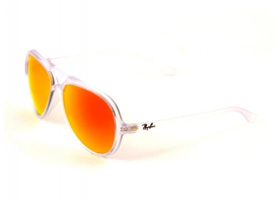 acecd84361 Ray-Ban 4125 Aviator Sunglasses For Men   Women - White Frames   Orange  Lenses