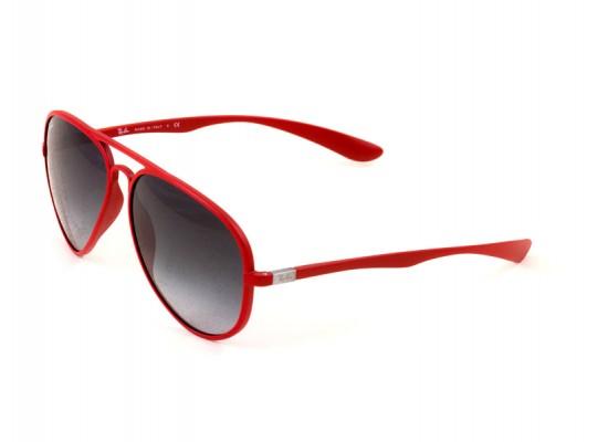 Ray-Ban 4180 Aviator Sunglasses For Men & Women - Red Frames & Grey ...