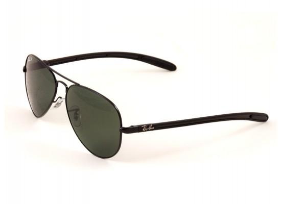 c3524ba04c Ray-Ban 8307 Aviator Sunglasses For Men - Black Frames   Brown Lenses