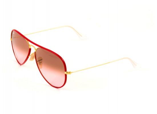 Ray-Ban 3025JM Aviator Sunglasses For Men & Women - Red Frames ...
