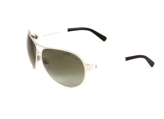 799dce7130 Ralph Lauren 7042 Aviator Sunglasses For Women - Silver Frames   Grey  Lenses