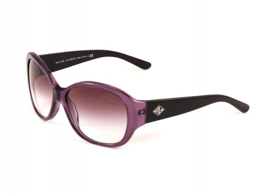 b2e3c3f4cc Ralph Lauren 8091 Square Sunglasses For Women - Purple Frames   Purple  Lenses