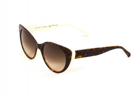 4ef24cd45b Ralph Lauren 8110 Round Sunglasses For Women - Brown Frames   Brown Lenses