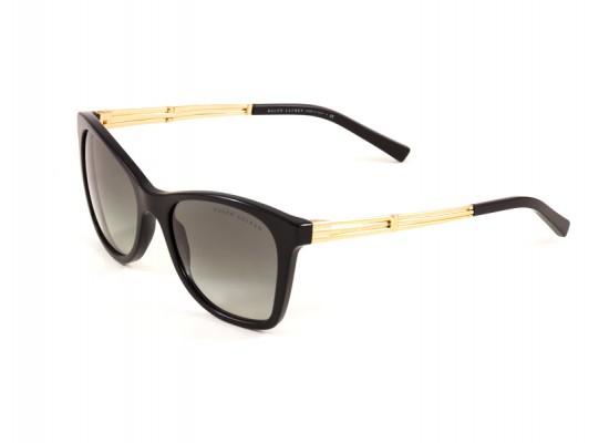 9647a1248c Ralph Lauren 8113 Square Sunglasses For Women - Black Frames   Grey Lenses