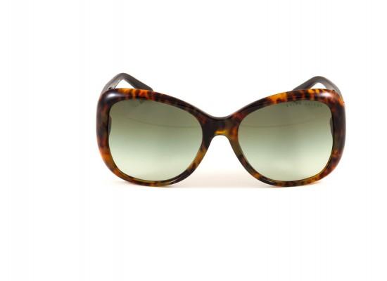 de05e75a5c Ralph Lauren 8108Q Square Sunglasses For Women - Brown Frames   Green Lenses