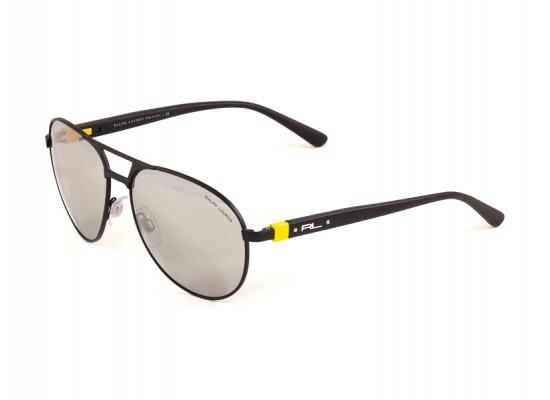 05d5b84bc8 Ralph Lauren 3083 Aviator Sunglasses For Men - Black Frames   Silver Lenses