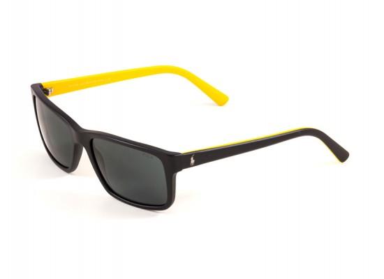 Ralph Lauren 4076 Square Sunglasses For Men - Black Frames & Black ...
