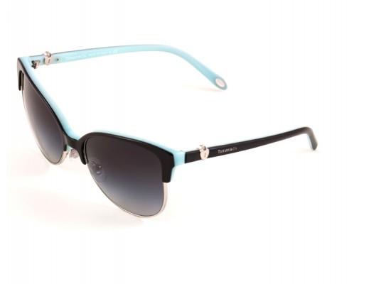 fcfe8f8389f Tiffany   Co. 4080 Cat Eye Sunglasses For Women - Multicoloured Frames    Black Lenses