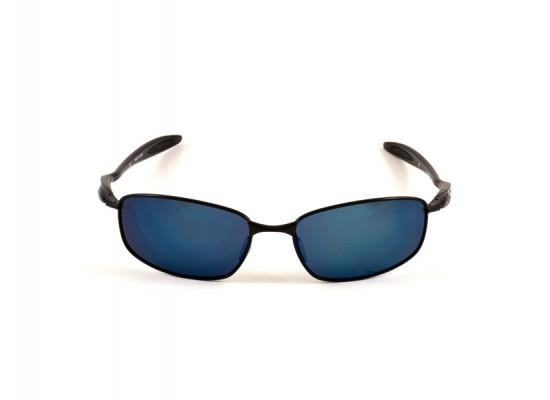 a0b01977b3 Oakley 4059 Oval Sunglasses For Men - Black Frames   Blue Lenses ...