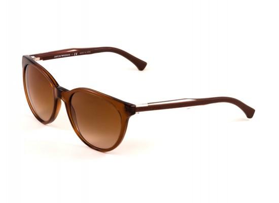 341745b32ba Emporio Armani 4003 Round Sunglasses For Women - Beige Frames   Brown  Lenses