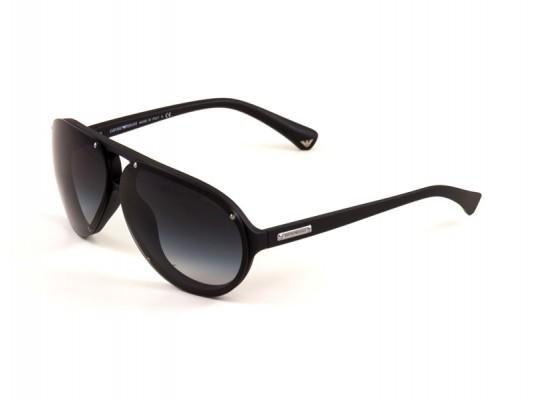 89e3b358c2a Emporio Armani 4010 Aviator Sunglasses For Men - Black Frames   Grey Lenses