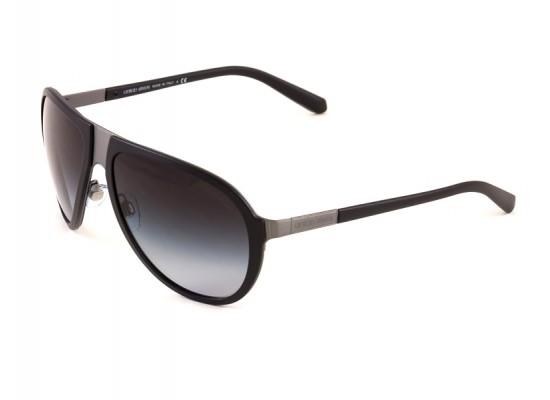 e7e4f77be06 Giorgio Armani 6008 Aviator Sunglasses For Men - Black Frames   Grey Lenses