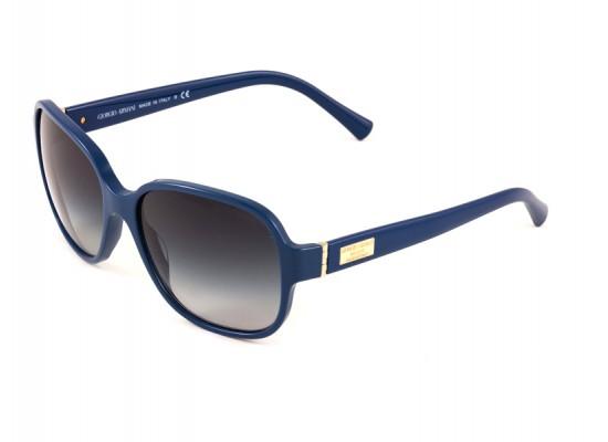 b826f143e63e Giorgio Armani 8020 Square Sunglasses For Women - Blue Frames   Grey Lenses
