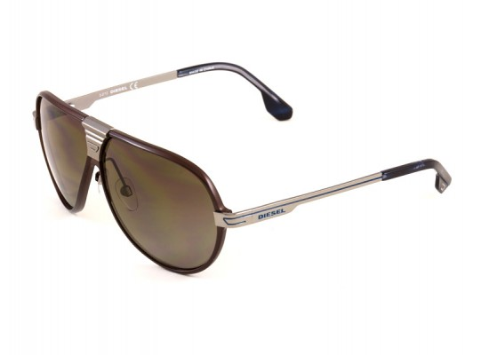 029108e3a6 Diesel 0068 Aviator Sunglasses For Men   Women - Brown Frames   Brown  Lenses
