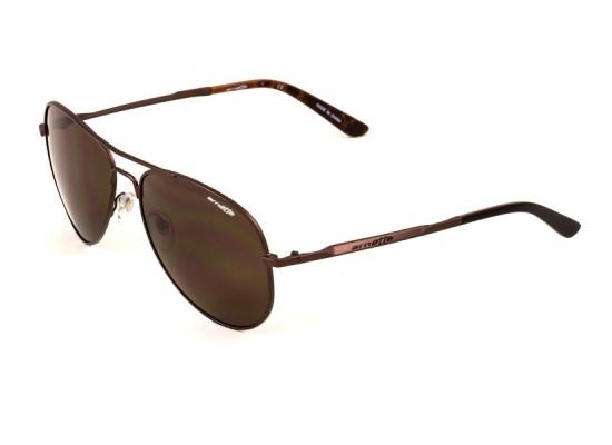 fb174f6fc8fe9 Arnette 3065 Aviator Sunglasses For Men - Brown Frames   Brown Lenses