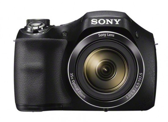 SONY 20MP with 35x Optical Zoom Point and Shoot Camera (DSC-H300) - Black