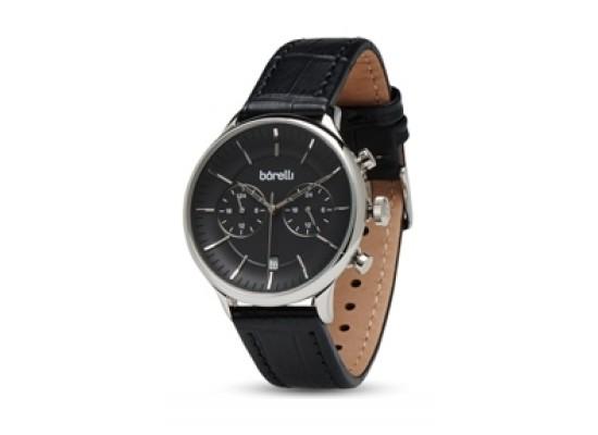 85d8c6fba اشتري ساعة بوريلي بعرض كرونوغراف وحزام من الجلد للرجال - ٤٢ ملم - أسود  (20050031
