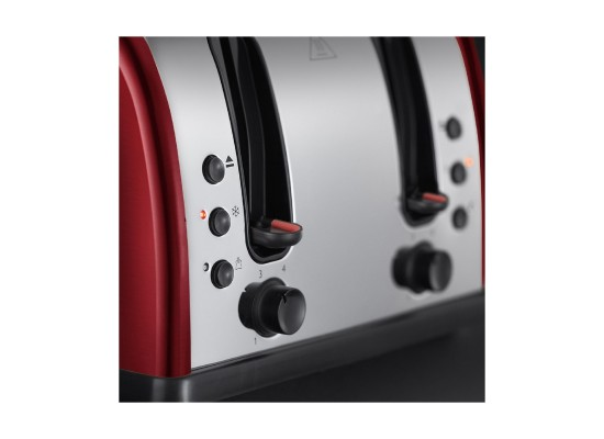 Russell Hobbs 4 Slice Toaster 2400 Watts (21301) - Red