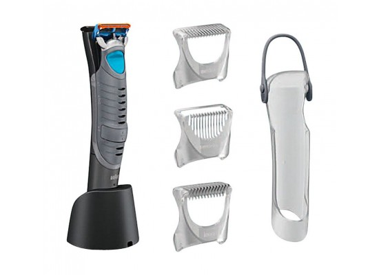 Braun CruZer6 Body Wet and Dry Rechargeable Body Groomer With Shaver and Trimmer - Grey