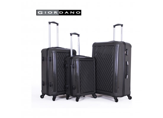 Giordano 25/732312 Hard Luggage 3 Piece Set - Grey (71X44X29 CM)